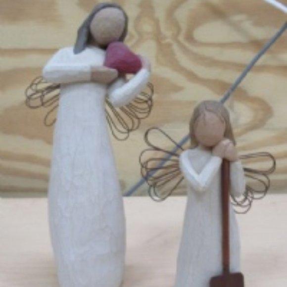 2 Willow Tree Figures Angel Of The Heart & Garden